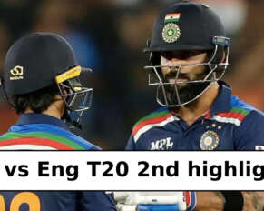 Ind vs Eng 2nd T20 highlights