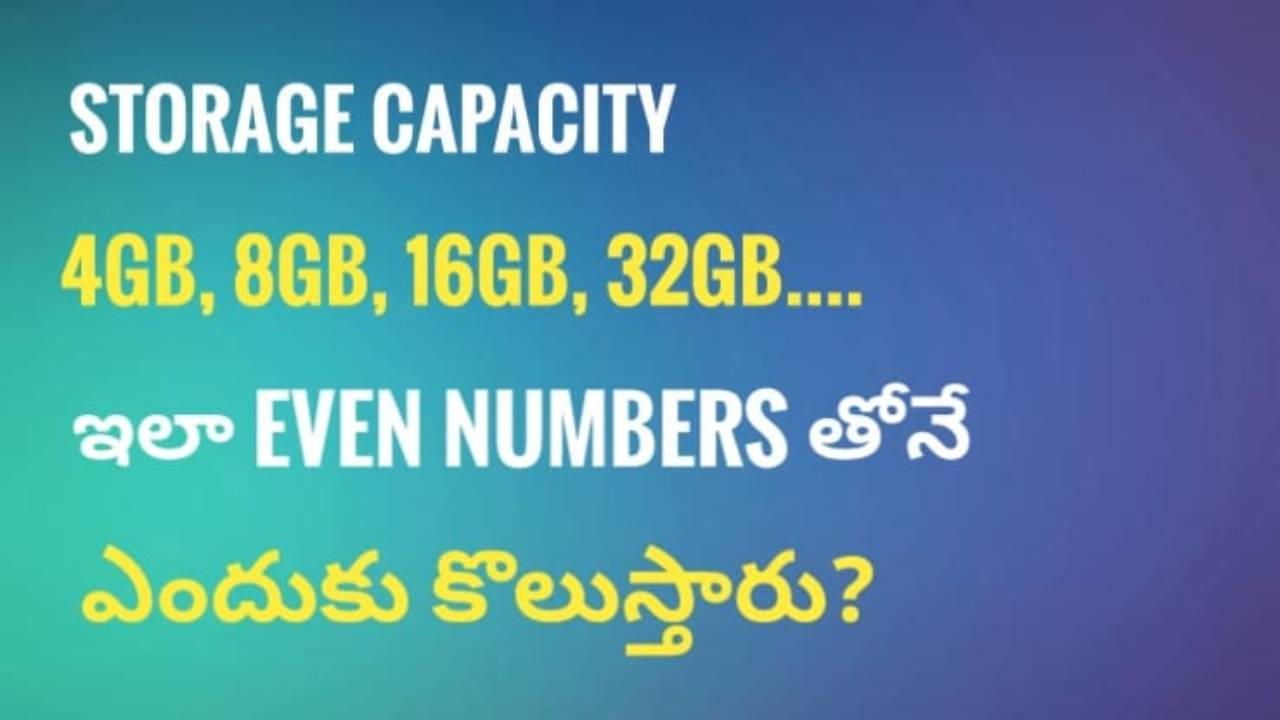 Why does memory storage come in equal numbers?