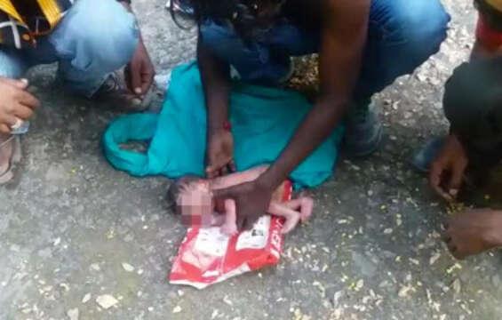 Newborn baby found in dustbin