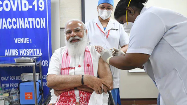 PM Modi took covaxin at AIIMS