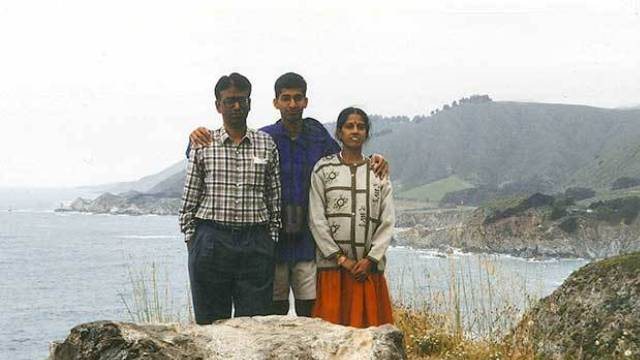 Sundar pichai with his Father & Mother