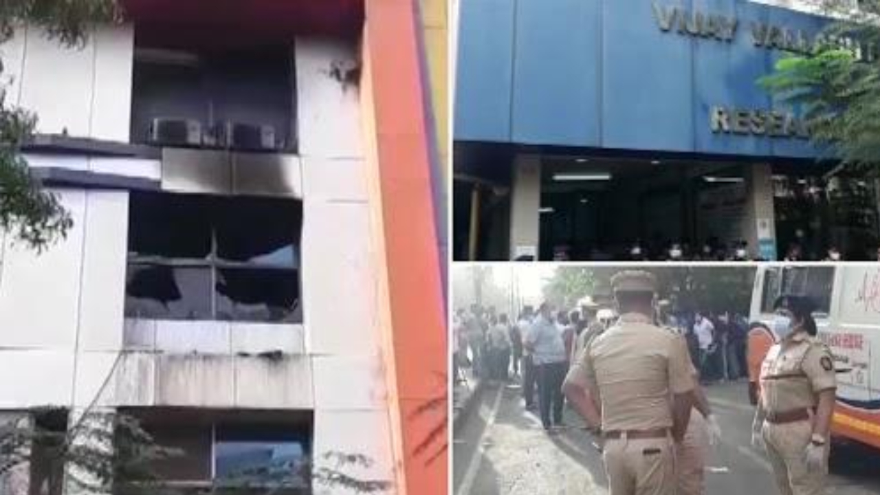 Massive fire at hospital in Maharashtra .. 13 covid patients burnt alive