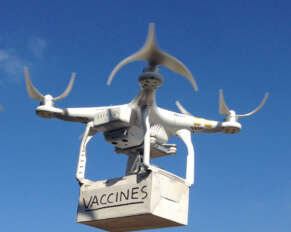 Vaccine distribution with drones in Telangana ..!