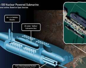 The largest submarine launched by China