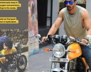 The actor put his bike up for sale to supply oxygen ..!