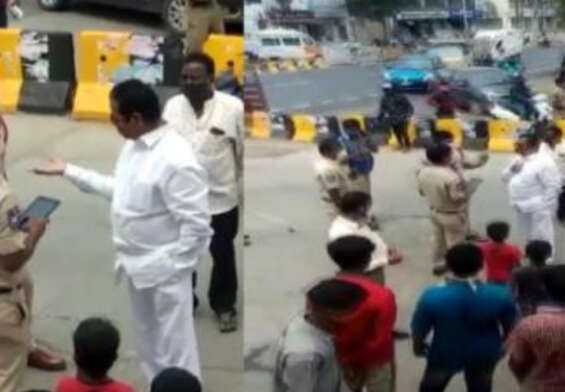 Former Hyderabad MLA fined by police