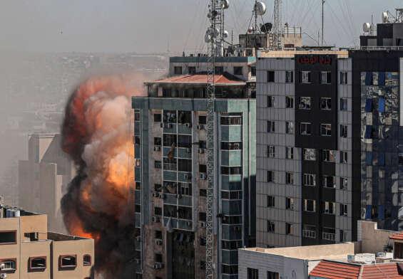 Israeli military strikes on Gajah city ..!