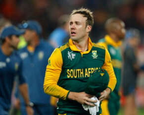 De Villiers will not play in the T20 World Cup.