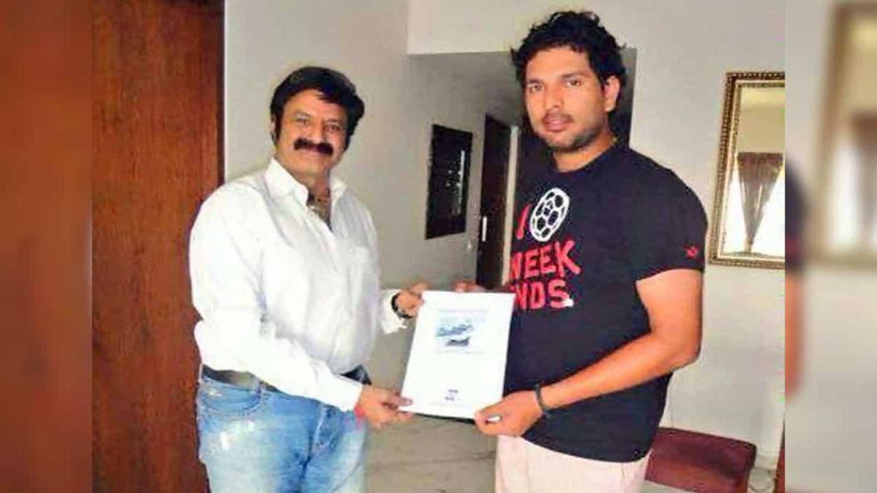 Cricketer Yuvraj Singh Special Wishes to Balakrishna