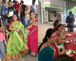 Senior actresses who tasted Sharwanand's home meal ..!